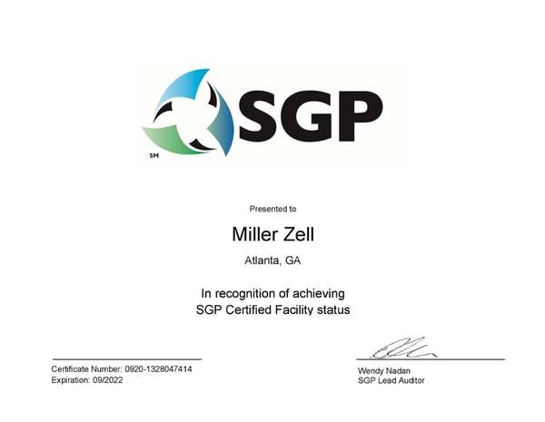 SGP Certification Certificate